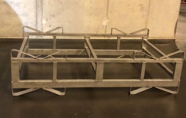 Gebrauchte 225er Barrique Doppelgestelle - stapelbar - Edelstahl rostfrei